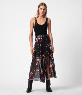 AllSaints Vivvie Flames Skirt