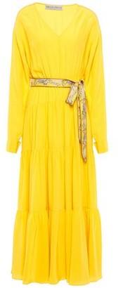 Emilio Pucci Belted Silk Crepe De Chine Midi Dress