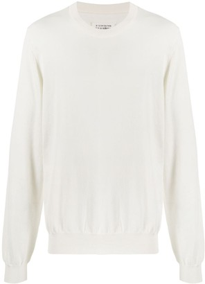 Maison Margiela Elbow-Patch Knitted Jumper