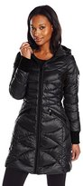 Bernardo Women's Packable Down Water Repellent Coat with Side Panels