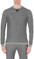 Hugo Boss Slim-fit Waffle-knit Cotton And Wool Jumper
