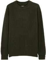 Études Echo Olive Wool Blend Jumper