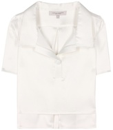 Carolina Herrera Cotton and silk top