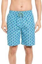 Peter Millar Men's Peacock Repeat Swim Trunks