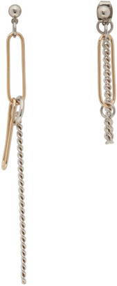 Justine Clenquet Silver and Gold Sid Earrings