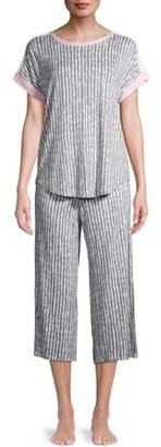 Secret Treasures Women's and Women's Plus Short Sleeve Top and Capri Pants Pajama Set