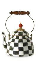 Mackenzie Childs MacKenzie-Childs Courtly Check Enamel Tea Kettle