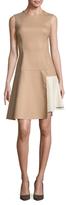Max Mara Pepli Wool Asymmetrical Flared Dress