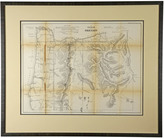 Rejuvenation Framed Oregon Surveyor's Map c1861