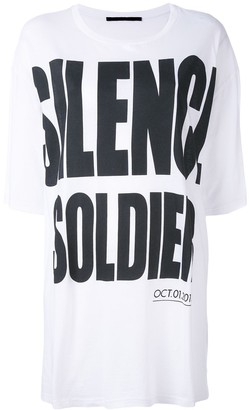 Haider Ackermann 'Silence is Golden' oversize T-shirt