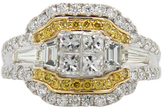London Fine Jewelry 14K Two-Tone 2.05 Ct. Tw. Diamond Half-Eternity Ring