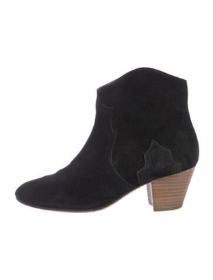 Etoile Isabel Marant Suede Western Boots Black