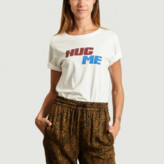 Essentiel Antwerp - White Cotton Hug Me T-Shirt - 1 | cotton | white - White/White