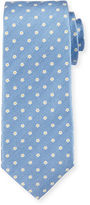 Isaia Neat Micro-Flower Printed Tie