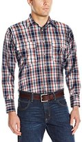Wrangler Men's Wrinkle Resist Western Two Pocket Long Sleeve Shirt