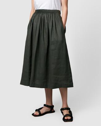 Nique Aimie Linen Midi Skirt