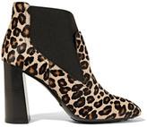 Tod's Leopard-print Calf Hair Ankle Boots - Leopard print