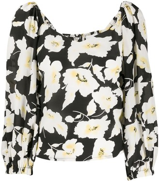BA&SH Fancy floral print blouse