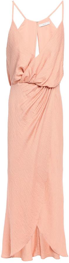 Joie Tanika Wrap-effect Slub Jersey Dress