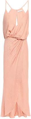 Joie Tanika Wrap-effect Slub Jersey Dress