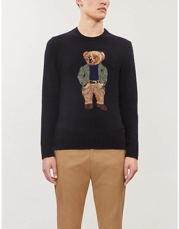 Blend Bear Intarsia Bear Intarsia Cashmere Jumper Blend Cashmere WDH2IE9Y