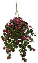 Nearly natural Silk Bougainvillea Hanging Plant Basket