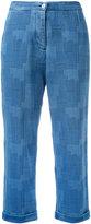 YMC patterned jeans - women - Cotton - 10