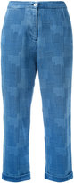 YMC patterned jeans - women - Cotton - 8