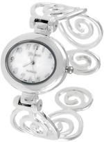 Geneva Platinum Swirl Cuff Watch