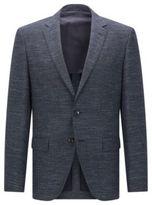 HUGO BOSS Wool Cotton Linen Sport Coat, Regular Fit Jestor 44LBlue