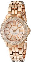 Anne Klein Women's 10/9536RMRG Swarovski Crystal Accented Rose-Gold Tone Bracelet Watch