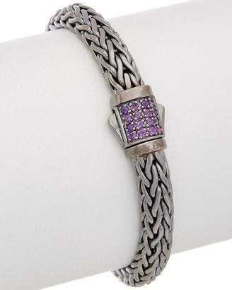Phillip Gavriel Silver Amethyst Bracelet
