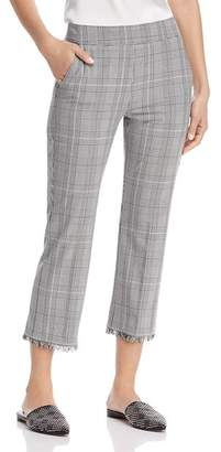Marella Auronzo Checked Frayed-Hem Pants