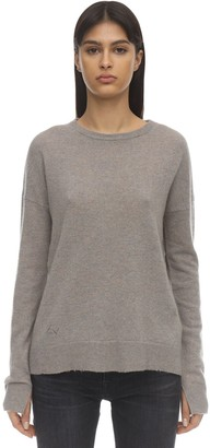 Zadig & Voltaire Zadig&Voltaire CASHMERE KNIT SWEATER W/ELBOW PATCHES