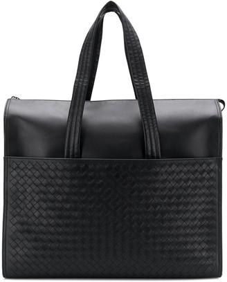 Bottega Veneta intrecciato weave zipped briefcase