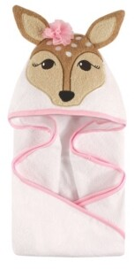 Hudson Baby Animal Face Hooded Towel, One Size