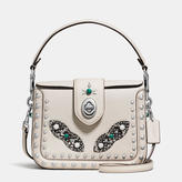Coach Page Crossbody In Glovetanned Leather With Western Rivets And Snake Trim