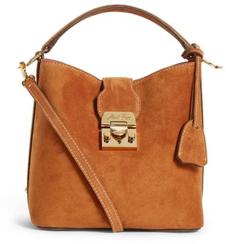 Mark Cross Small Suede Murphy Shoulder Bag
