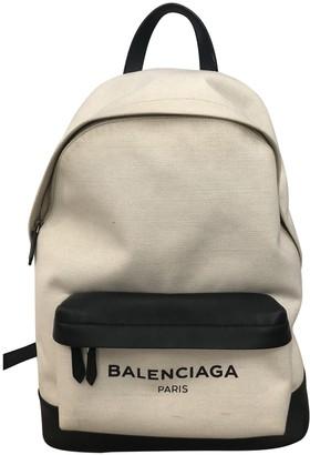 Balenciaga Beige Cloth Backpacks