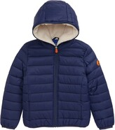 Save The Duck Quilted Water Resistant Hooded Jacket