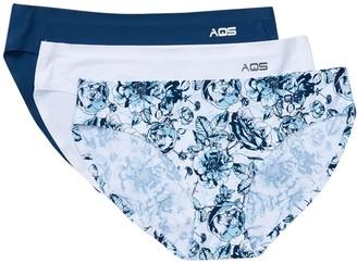 Aqs Assorted Seamless Bikini Cut Panty - Pack of 3