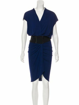 Haute Hippie Sleeveless Midi Dress w/ Tags Navy
