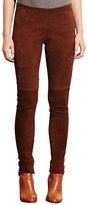 Lauren Ralph Lauren Stretch Suede Skinny Pants