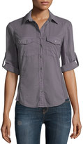 James Perse Contrast Panel Shirt, Storm