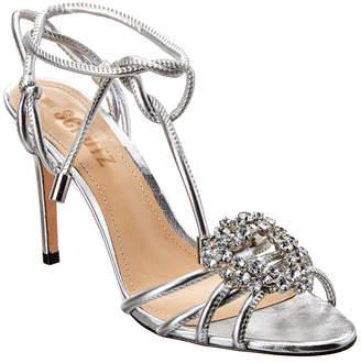Schutz Floralicie Leather Sandal