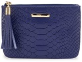 GiGi New York Small Python-Embossed Leather Pouch