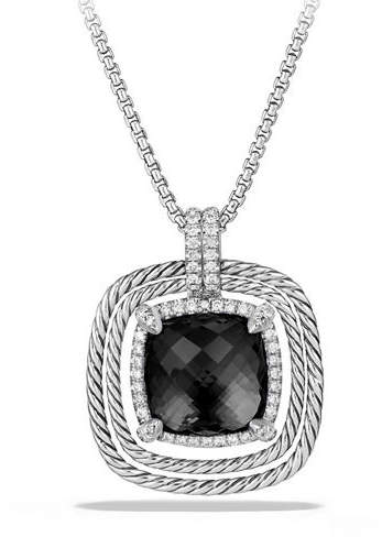 David Yurman 24mm Châtelaine® Spiraled Bezel Necklace with Diamonds