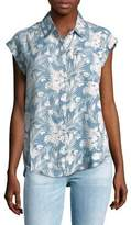 Lord & Taylor Frankie Tropical-Print Shirt