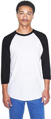 American Apparel Men's 50/50 Raglan 3/4 Sleeve T-Shirt 2-Pack