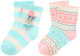 Gymboree Hippo Fair Isle Sock Two-Pack